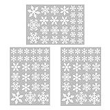 Tuopuda 81 Schneeflocken Fensterbild Abnehmbare Weihnachten Fensterdeko Statisch Haftende PVC Aufkleber Winter Dekoration für Tuopuda 81 Schneeflocken Fensterbild Abnehmbare Weihnachten Fensterdeko Statisch Haftende PVC Aufkleber Winter Dekoration