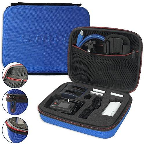 hutztasche XL für Sony FDR-X1000V, X3000R / HDR-AZ1, AS300(R), AS200V, AS100V, AS50 ... - Blau - Koffer Case Stecksystem Modular ()