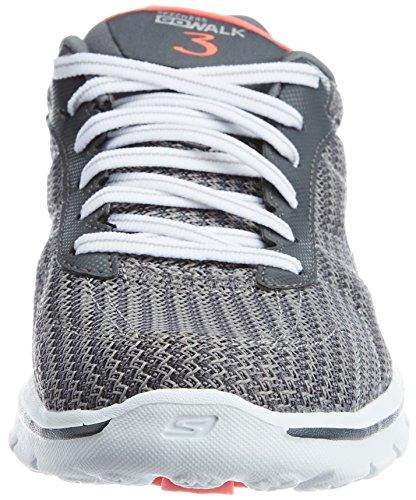 Skechers  GO WALK 3 - FITKNIT, Chaussures de sport femme CHAR