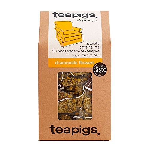 Teapigs Chamomile Herbal Tea Bags Made with Whole Flowers (1 Pack of 50 Teabags)