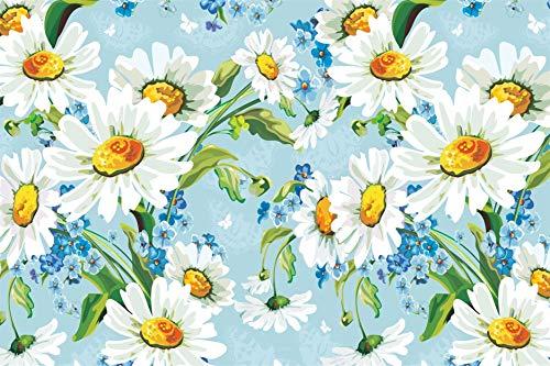 zsfzsm pittura diamante 5d fai da te, fiori di camomilla strass ricami dipinti immagini artigianato per la decorazione domestica 40x50cm
