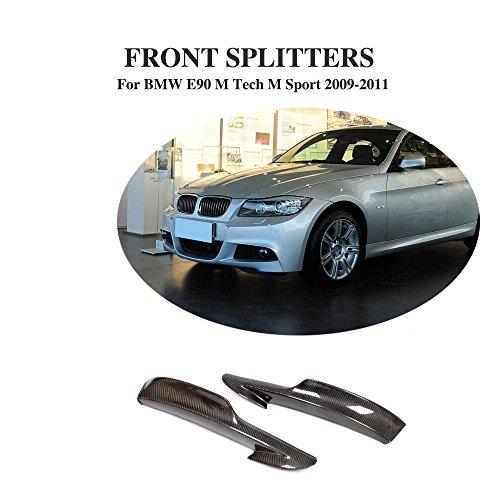 Carbon Faser Material vorne Splitter Klappen Schürzen für 3-Serie E90 m-sport 2009-2012 (2012 Schürze)