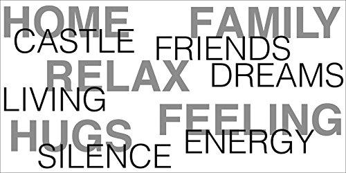 Artland Poster oder Leinwand-Bild gespannt auf Keilrahmen mit Motiv Jule Zuhause Statement Bilder Sprüche & Texte Schrift Kunst Schwarz/Weiß A7NX