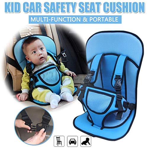 Kidsafe Child Car Seat or Baby Chair Seat with Safety Belt (Blue)