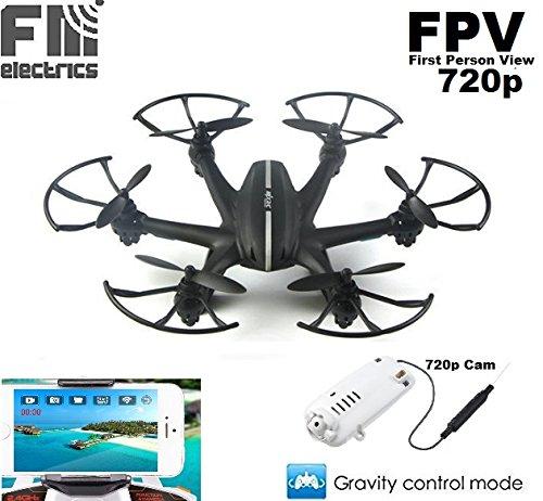 Preisvergleich Produktbild fm-electrics MJX X800w - Hexacopter inklusive Wifi HD FPV Kamera mit SD Karte, schwarz