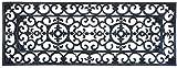 EHC Tapete de Goma Antideslizante para Interiores y Exteriores Extra Largo con Efecto de Hierro Forjado Victoriano 120cm x 45cm•