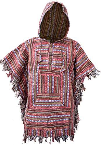 Little Kathmandu Hippie Gypsy Baumwolle Gheri Fransen Mantel Poncho E