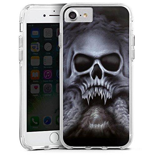 Apple iPhone 6 Bumper Hülle Bumper Case Glitzer Hülle Totenkopf Schädel Skull Bumper Case transparent