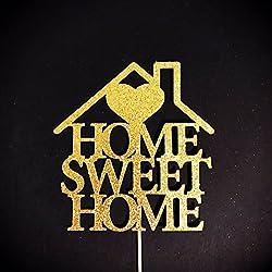 Home Sweet Home Cake Topper, New Home Cake Topper, Wedding Cake Topper, Housewarming Cake Topper, Housewarming Gift, Home Sweet Home Sign Birthday Anniversary Wedding Gift