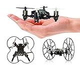 Top Race 4-Kanal Micro Mini-Drohne rollender Quadcopter mit Rollen, Fly, Roll und Flip. TR-MQ3