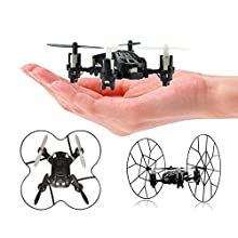 Top Race 4-Kanal Micro Mini-Drohne rollender Quadcopter mit Rollen, Fly, Roll und Flip. TR-MQ3