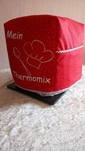Abdeckhaube*Schutzhaube*Husse*Cover für den Thermomix *Mein Thermomix* Rot/Weiss