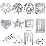 Yodensity Stanzschablonen Kohlenstoffstahl Schneiden Schablonen DIY Sammelalbum Set Scrapbooking Papier Karten (Set3)