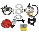oxoxo 16100-ZE2-W71carburador Carb Kit con filtro de aire de arranque de bobina de encendido para Honda GX240GX2708hp 9hp Motor