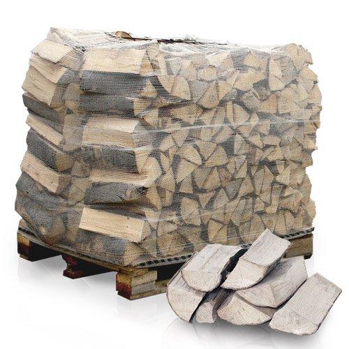 PALIGO Brennholz Kaminholz Feuerholz Grillholz Ofenholz Smokerholz Scheitholz Buchen Holz Trocken Ofenfertig Buche 33cm 1RM = 1,4SRM/1 Palette HEIZFUXX®