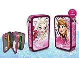 Disney Frozen – Die Eiskönigin Federtasche 27 tlg. 2 Ebenen Federmappe gefüllt (2)