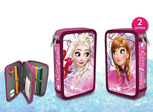 Disney frozen, la regina del ghiaccio - astuccio portapenne da 27 pezzi astuccio a 2 scomparti, riempito (2)