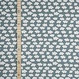 Mini Wolken - Türkis - Jersey - 1 Meter - 150 cm breit