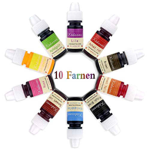 Lebensmittelfarbe flüssig Set, 10 lebensmittel farben, Farbe Farbstoff extrem hoch konzentriert,Set zum Geeignet für Kuchen,Backen und alle Lebensmittelfärbungen (Lebensmittelfarbe Set)