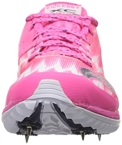 Saucony Women's Kilkenny XC5 Racing Shoe, Pink/White, 10 M US Pink/White