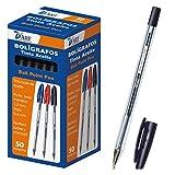 79411 D'Art-Boîte de 2 stylos 1 mm 50 pièces noir