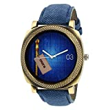 Oura Analog Round Casual Ware Blue Dial ...