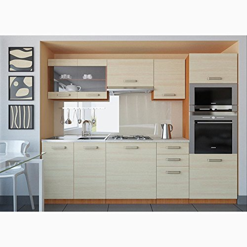 Justhome paula cucina componibile cucina 240 cm colore: guercia i