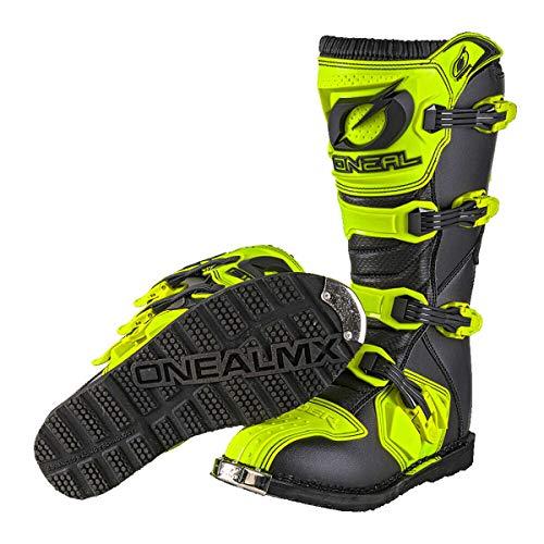 O'Neal Rider Boot MX Stiefel Hi-Viz Neon Gelb Motocross Enduro Motorrad, 0329-5, Größe 46 - 4