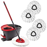 WAMSY Vadrouille 360 Degree Portable Replacementmagic Mop Microfiber Heads Mop Floor...