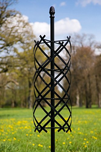 kuheiga Stabile Rankhilfe Rosensäule aus Metall Schwarz 197cm Rankgerüst Ranksäule