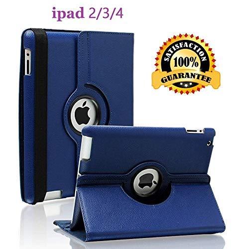 Schutzhülle für iPad 2/3 / 4, 360 Grad drehbar, mit automatischer Aufwach- / Schlaffunktion für Apple iPad 4, iPad 3 und iPad 2 blau Navy