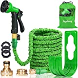 Suplong Expandable Garden Water Hose Pipe - 100FT Magic Expanding Hose with 3/4' to 1/2' Brass Fittings Valve 8 Function…