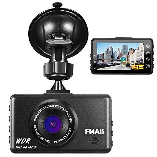 FAMIS Telecamera per Auto 1080P Full HD, Dash Cam DVR per Auto, Registratore di Guida con Schermo LCD da 3', G-Sensor, WDR, Parcheggio Monitor, Registrazione in Loop, Rilevatore di Movimento