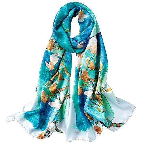 Qysser Frauenschals, Seidendrucke, Lange Absätze, Frühling und Herbst, Multifunktions, Schals,Zwei,175 * 52 cm
