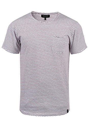 Indicode Albin Herren T-Shirt Kurzarm Shirt Mit Rundhalsausschnitt Aus 100% Baumwolle, Größe:L, Farbe:Wine (227)