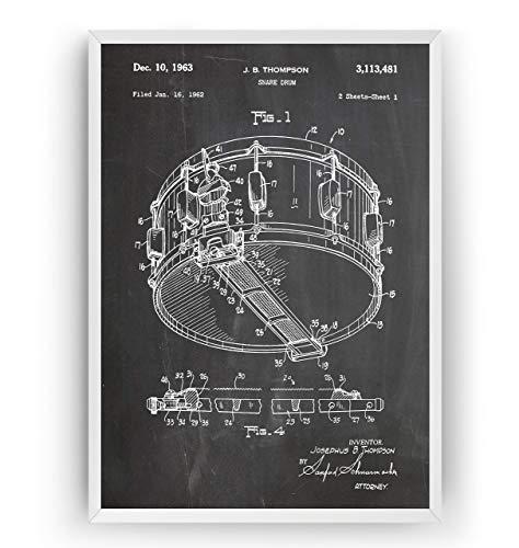 Kleine Trommel 1963 Patent Poster - Snare Drum Jahrgang Drucke Drucken Bild Kunst Geschenke Zum Männer Frau Entwurf Dekor Vintage Art Gifts For Men Women Blueprint Decor - Rahmen Nicht Enthalten Womens Gift