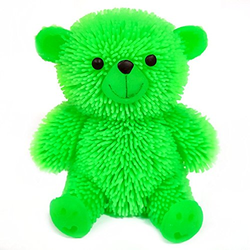 Flashing Puffer Teddy Bear Squidgy Sensory Toy by Blue Frog Toys (Blues Clues 3)