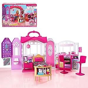 Barbie casa portatile glam casa con mobili arredamento for Amazon arredamento casa