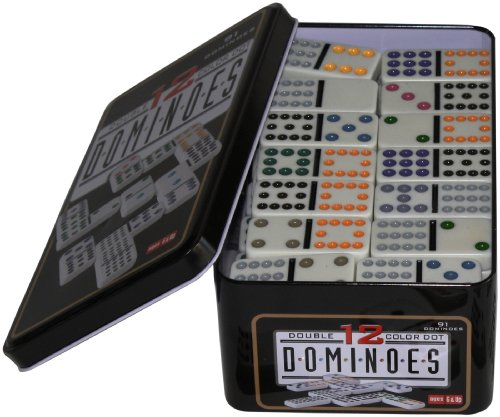 weiblespiele 250103 - Domino Doppel 12 in Metalldose