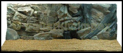 3D Aquarienrückwand 150x60 Root 2Tlg