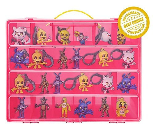 My Freaky Toy Organizer - Freaky Toy Box Is The Perfect Storage Box-50 Characters -Sturdy Carrying Handle(Pink)