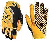 Seibertron Pro 3.0 Elite Ultra-Stick Sports Receiver/Empfänger Handschuhe American Football Gloves Jugend und Erwachsener (Yellow, XS)