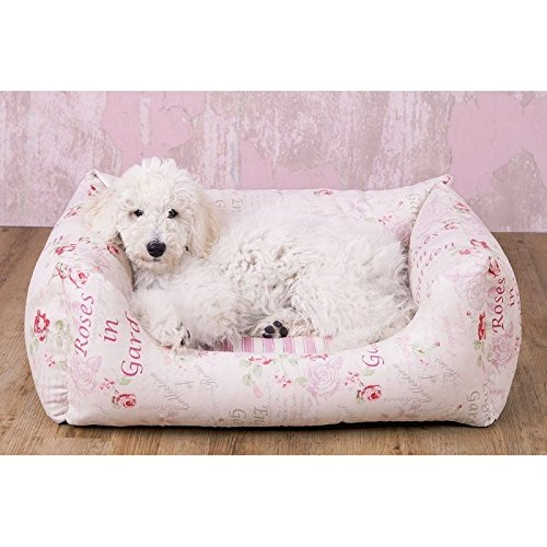 Knuffelwuff 13074 Vintage Hundebett Emilia Shabby Chic - Größe XXL, 120 x 85 cm