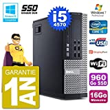 Dell PC 9020 SFF Intel i5-4570 RAM 16GB SSD 960GB DVD-Brenner WiFi W7