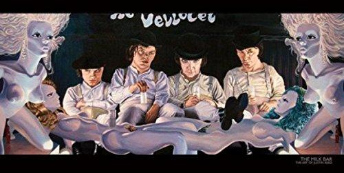 1art1 52956 Justin Reed - Die Milchbar, Uhrwerk Orange Poster Kunstdruck 100 x 50 cm - Justin Reed