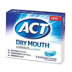 Act Mouthwash Act Total Care Dry Mouth Lozenges, Soothing Mint - 18 Ea, 2 Pack
