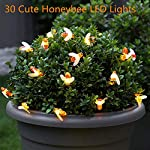 FANSIR Solar String Lights, 8 Modes 30 LED Honey Bee Fairy Lights Solar Powered Waterproof Outdoor String Lights for Garden Patio Yard Summer Party Wedding Indoor Bedroom Decor (Warm White) 13
