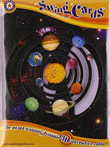 Boston International Santoro Solar System 3D Interaktive Swing Grußkarte