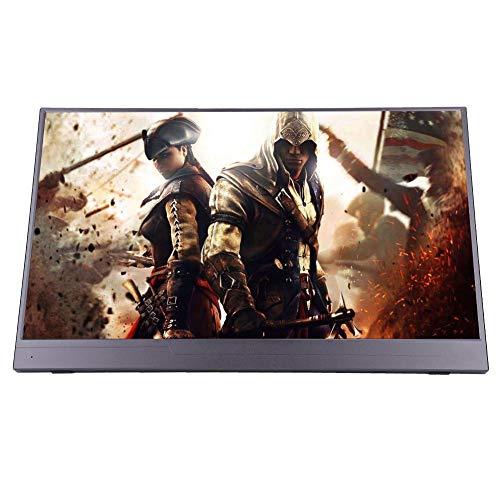 15,6-Zoll-4K 2160P-Monitor, HD-Spielmonitor für PS3 / PS4 / Xbox-Unterstützung Multiscreen, Touchscreen Geeignet für Spiele, Büro, Design mit Fernbedienung