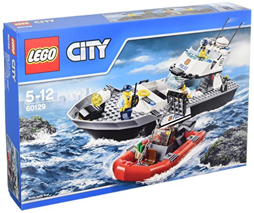 LEGO - Barco patrulla de la policía, multicolor (60129)